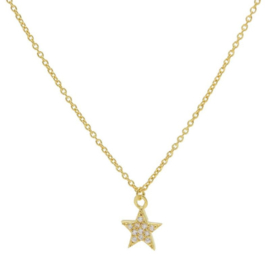 Karma - Necklace Zirconia Star Gold Plated