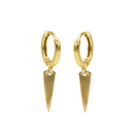 Karma - Klap creolen pegel goldplated