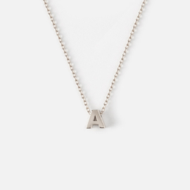 Orelia - Necklace Initial A Silver Plated