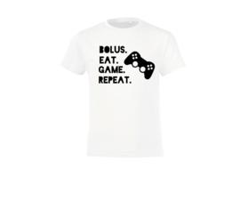 T shirt - Bolus. Eat. Game. Repeat.