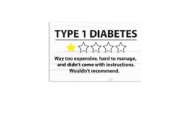Houten bord - Type 1 diabetes