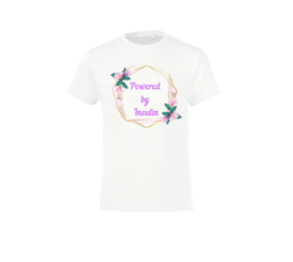 T shirt - Powered by Insulin - Flower