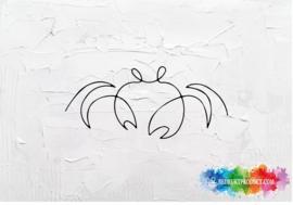 One line crab sticker