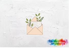 Plant envelope sticker
