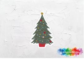 Kerstboom sticker