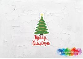 Merry Christmas boom sticker