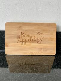"Bamboe snijplank ""Bon appétit"""