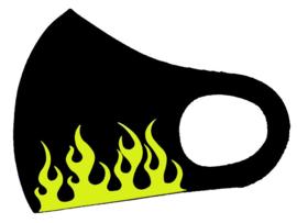 """Foam mondkapje met bedrukking """"flames"""""""