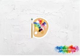 Paint sticker
