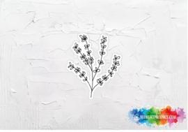 Branch black white sticker