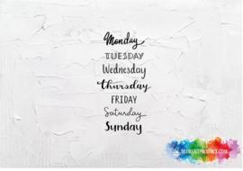 Dagen van de week sticker