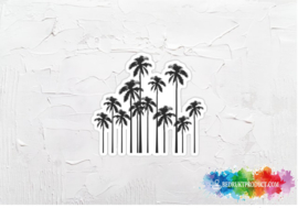 Palmtrees black white sticker