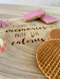 "Borrelboomstam ""Count the memories not the calories"""
