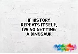 I'm getting a dinosaur sticker