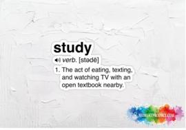 Study verb sticker