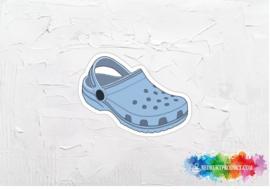 Blue crocs sticker