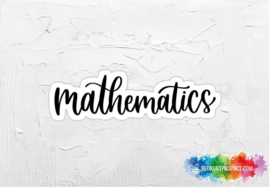 Mathematics sticker
