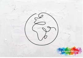 One line globe