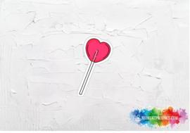 Heart lollypop sticker