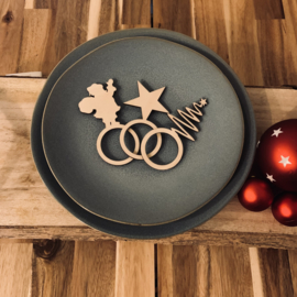 Kerst servetten houder set