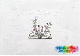 Floral book sticker