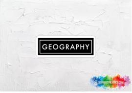 Geography 2 sticker