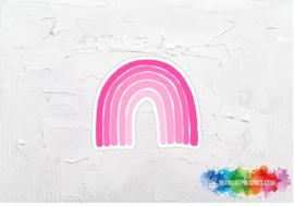 Pink rainbow sticker