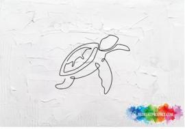 One line turtle