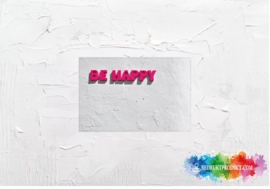 Be happy picture sticker