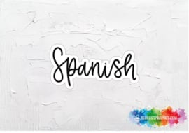 Spanish sticker