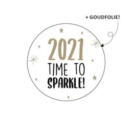 "Sluitstickers ""2021 time to sparkle"""