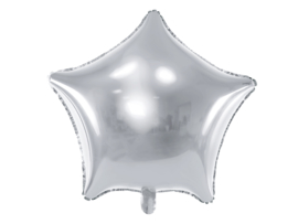 Folieballon zilveren ster (48cm)