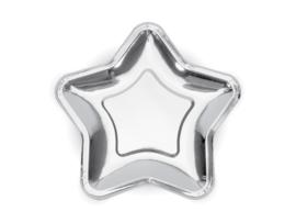 Ster bordjes zilver (6st)