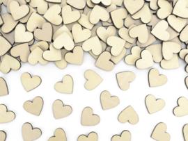 Houten confetti hartjes (50 stuks) 2x2cm