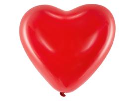 Rode hart ballonnen 40 cm (6st)