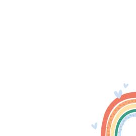 Kaart regenboogbaby