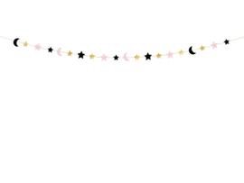 Guirlande sterren en maan (1,9m)