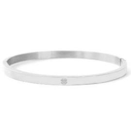 Armband RVS (zilver) met klavertje 4