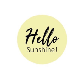 "Sluitstickers ""hello sunshine"""