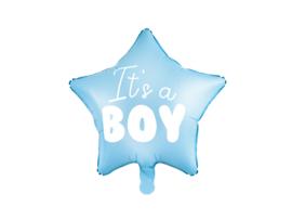 Folieballon blauwe ster (it's a boy)