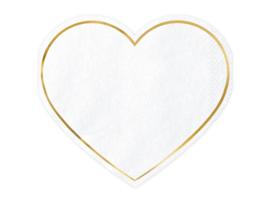 Servetten hart (20 st)