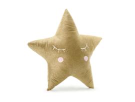 Kussen kleine ster (goud)