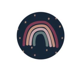 """Sluitstickers """"regenboog en sterren"""""""