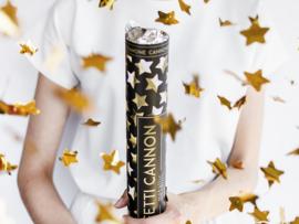 Confetti kanon gouden sterren (40cm)