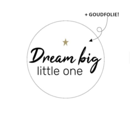 "Sluitstickers ""dream big little one"""