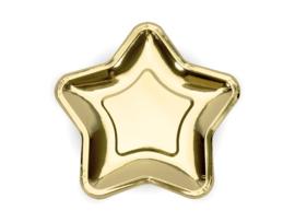 Ster bordjes goud (6st)