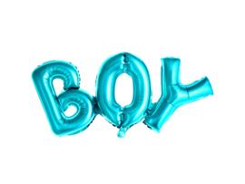 Folieballon boy blauw