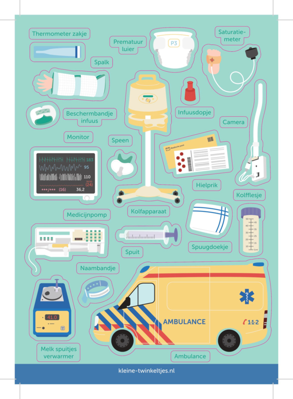 Neonatologie stickers (vel 2)