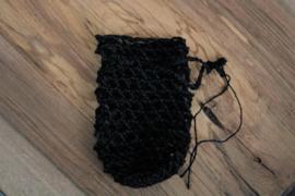 Zeepnetjes van 100% hennepvezel -zwart