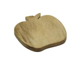 Houten onderzetter appel